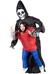 cheap -Skeleton / Skull Grim Reaper Cosplay Costume Halloween Props Masquerade Men's Women's Movie Cosplay Leotard / Onesie Air Blower Halloween Carnival Children's Day Polyester