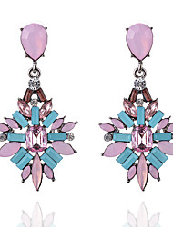 cheap -Women's Drop Earrings Geometrical Snowflake Ladies Geometric Earrings Jewelry Fuchsia / Blue / Rainbow For Party Daily Casual Stage Party / Cocktail