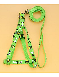 cheap -Dog Harness Leash Safety Flower Nylon Green Blue Pink