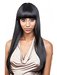 cheap -Human Hair Lace Front Wig Straight 130% Density 100% Hand Tied African American Wig Natural Hairline Short Medium Long Women's Human Hair