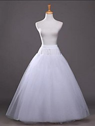 cheap -Wedding / Party / Evening Slips Cotton / Polyester / Tulle Floor-length / Tea-Length Glossy / A-Line Slip / Ball Gown Slip with White Bow