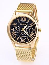 Недорогие -Geneva Муж. Наручные часы Кварцевый Нержавеющая сталь Розовое золото Повседневные часы Cool Аналоговый Мода - Белый Черный Кофейный