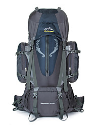 Недорогие -85 L Рюкзаки Заплечный рюкзак Дышащие ремни - Дышащий Дожденепроницаемый Износостойкость Высокая емкость На открытом воздухе Отдых и Туризм Восхождение Спорт в свободное время / Да