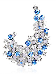 cheap -Women's Brooches Fashion Euramerican Rhinestone Brooch Jewelry Purple Blue For Wedding Party Special Occasion Daily