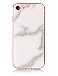 cheap -Case For Apple iPhone 7 Plus / iPhone 7 / iPhone 6s Plus IMD Back Cover Marble Soft TPU