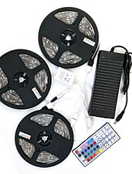 cheap -ZDM® 15m Light Sets 450 LEDs 5050 SMD 10mm RGB Waterproof / Remote Control / RC / Cuttable 100-240 V / IP65 / Dimmable / Linkable / Self-adhesive