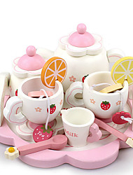 cheap -Toy Kitchen Set Pretend Play Play Kitchen Teapot Cooking Toy Wood Kid's Toy Gift 15 pcs