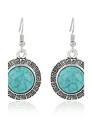 abordables -Femme Turquoise Style Simple Mode euroaméricains Des boucles d'oreilles Bijoux Vert Pour Mariage Soirée Anniversaire Cadeau
