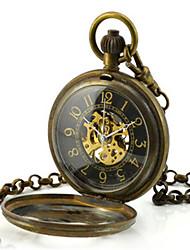 Недорогие -Муж. Часы со скелетом Карманные часы Механические часы Кварцевый С автоподзаводом Бронза Аналоговый Steampunk - Черный
