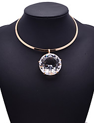 cheap -Women's Pendant Necklace Bohemian Fashion Euramerican Gem Alloy Gold Silver Necklace Jewelry For Party Special Occasion Gift