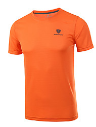 cheap -Men's Running T-Shirt Workout Shirt Running Exercise & Fitness Racing Breathable Quick Dry Comfortable Sportswear Plus Size Tee / T-shirt Top Short Sleeve Activewear Stretchy