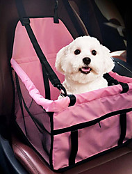 cheap -Cat Dog Car Seat Cover Dog Pack Pet Booster Seat Pet Carrier Portable Breathable Double-Sided Solid Colored Gray Pink