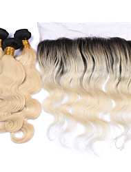 cheap -Brazilian Hair Body Wave Human Hair Weaves 4 Pieces 0.38