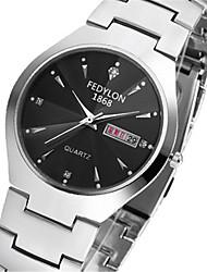 cheap -Men's Fashion Watch Quartz Ladies / Analog Black / Stainless Steel