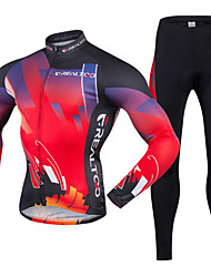 cheap -Realtoo Men's Long Sleeve Cycling Jersey with Tights Bike Clothing Suit Breathable 3D Pad Quick Dry Ultraviolet Resistant Back Pocket Sports Polyester Lycra Classic Mountain Bike MTB Road Bike Cycling