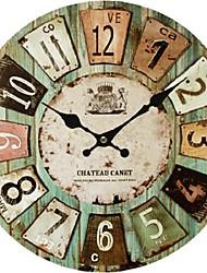 abordables -Traditionnel Rustique Antique Décontracté Rétro Bureau / Affaires Personnages Vacances Niches Inspiré Famille Religieux Horloge murale,