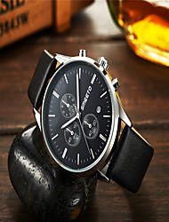 cheap -Men's Fashion Watch Quartz Casual Analog Rose Gold Black Silver / Leather