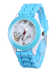 cheap -Women's Fashion Watch Quartz Silicone Band Casual Blue Brown