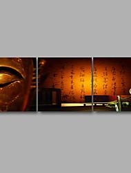Недорогие -Отпечатки на холсте Абстракция Modern,3 панели Холст Горизонтальная С картинкой Декор стены For Украшение дома