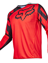 cheap -FOX Motorcycle Off-Road T-shirt Long-Sleeved Riding Suit Speed Off the Outdoor Sports Casual Wear Black Orange Yellow Red Green Blue Gray and Various Sizes