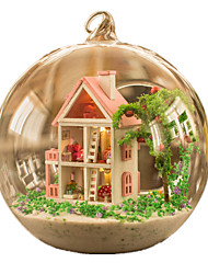 cheap -Dollhouse Sphere Wood Glass Pieces Unisex Gift