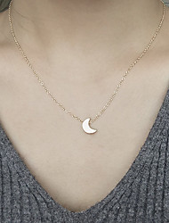 cheap -Women's Pendant Necklace Moon Crescent Moon Ladies Fashion Alloy Gold Silver Necklace Jewelry For Daily