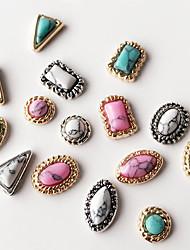 cheap -10pcs mixed style mixed colour return to the ancients jewel nail art decoration