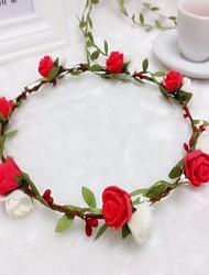 cheap -Foam Headbands Flowers Wreaths Headpiece Classical Feminine Style