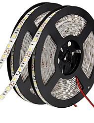 Недорогие -Гибкие светодиодные световые полосы 600 светодиодов 10 мм теплый белый белый зеленый желтый синий красный режущий самоклеящийся, подходит для транспортных средств, подключаемых к 12 В постоянного тока