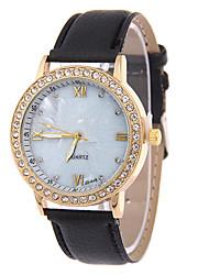 cheap -Women's Fashion Watch Quartz Leather Band Casual Black Blue Rose