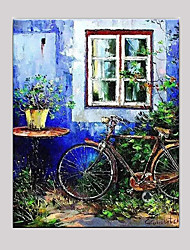 cheap -Hand-Painted Still Life Horizontal,Mediterranean European Style One Panel Canvas Oil Painting For Home Decoration