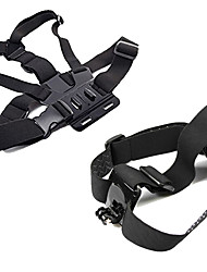 cheap -Chest Harness Front Mounting Foldable Adjustable Convenient For Action Camera Gopro 6 All Gopro Xiaomi Camera Gopro 4 Silver Gopro 4 Session Diving Surfing Ski / Snowboard Velcro Cotton ABS / SJCAM