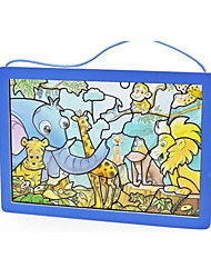 cheap -Sticker Jigsaw Puzzle Wooden Puzzle Fun Crystal Wood Glass Classic Toy Gift