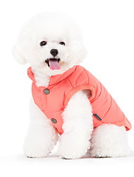 cheap -Dog Coat Vest Winter Dog Clothes Green Blue Pink Costume Cotton Solid Colored Sports Fashion S M L XL XXL