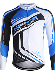 cheap -Fastcute Men's Women's Long Sleeve Cycling Jersey Winter Coolmax® Plus Size Bike Sweatshirt Jersey Top Mountain Bike MTB Road Bike Cycling Breathable Quick Dry Reflective Strips Sports Clothing