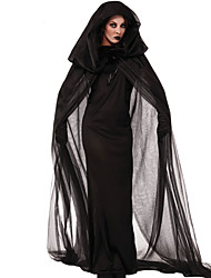 cheap -Witch Cosplay Costume Party Costume Adults' Women's Christmas Halloween Carnival Festival / Holiday Terylene Black Female Carnival Costumes Vintage