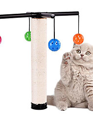 cheap -Interactive Ropes Bells Cat Toy Pet Toy 1 set Scratch Pad Durable Plastic Sisal Gift