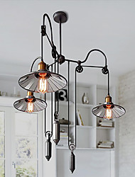 cheap -Ecolight™ 3-Light 90(35.4 cm Mini Style Chandelier Metal Glass Painted Finishes Rustic / Lodge / Vintage / Traditional / Classic 110-120V / 220-240V