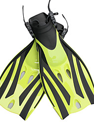 cheap -Diving Fins Long Blade Adjustable Strap Swimming Diving Snorkeling Silicone Neoprene - for Kids