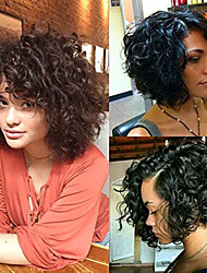 cheap -Premierwigs short curly wigs 8a curly explosion head wig virgin human hair lace front wig natural color unprocessed virgin brazilian hair wigs