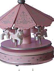 cheap -Music Box Carousel Merry Go Round Cute Lighting Plastic Toy Gift