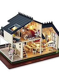 cheap -Dollhouse Model Building Kit DIY Furniture House Wooden Boys' Girls' Toy Gift