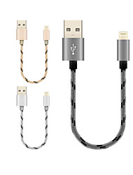 cheap -USB 2.0 / Lightning Cable <1m / 3ft Portable / High Speed / Gold Plated Aluminum / Nylon USB Cable Adapter For Macbook / iPad / MacBook Air