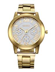 Недорогие -Жен. Наручные часы Кварцевый Нержавеющая сталь Золотистый 30 m Секундомер Аналоговый Кулоны Мода - Золотой