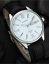 cheap -Men's Fashion Watch Quartz Leather Black Analog Black Black / White