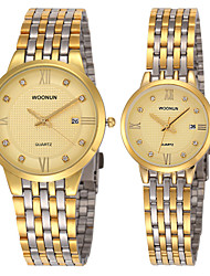 cheap -Men's Fashion Watch Quartz Analog Light Blonde White Black
