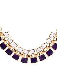 cheap -Women's Statement Necklace Geometrical Ladies Geometric Unique Design Acrylic Black White Purple Necklace Jewelry For Party Daily Casual
