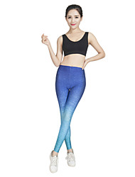 cheap -Women's Running Pants Track Pants Sports Pants Athletic Tights Athleisure Wear Bottoms Sport Yoga Running Exercise & Fitness Breathable Soft Comfortable Fuchsia Blue Sports Digital Printing
