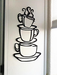 abordables -Autocollants muraux décoratifs - Autocollants avion Nature morte Salle de séjour / Salle à manger / Magasins / Cafés / Lavable