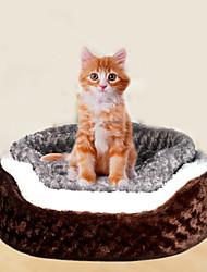 Недорогие -Кошка Собака Кровати Ткань Плюш Животные Коврики и подушки Однотонный Мягкий Кофейный